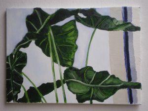 Bladeren - Olieverf op doek - 40 x 70 cm - 2013