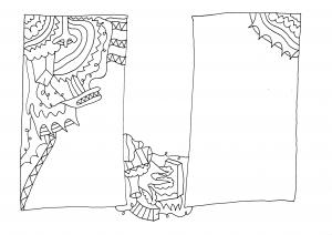 Hokhokhoko - pen op papier - 29,7 x 21 cm - 2016