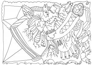 Joblojoblo - pen op papier - 29,7 x 21 cm - 2016