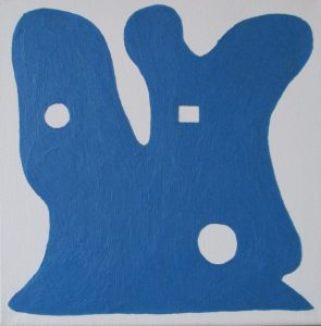 Pictogram (Bergneus) - 30 x 30 - Olieverf op doek