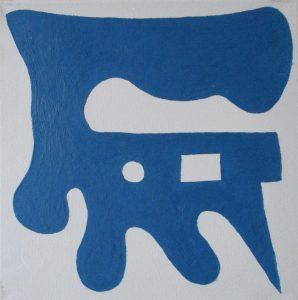 Pictogram (Beuknoot) - 30 x 30 - Olieverf op doek