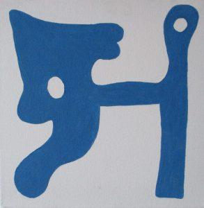 Pictogram (Hondsnaak) - 30 x 30 - Olieverf op doek