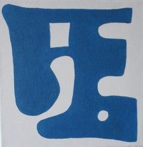 Pictogram (Huiskraag) - 30 x 30 - Olieverf op doek