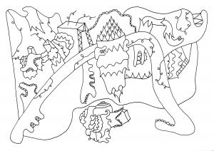 Porfirifna - pen op papier - 29,7 x 21 cm - 2016