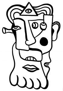 Portret - 70 x 100 cm - Inkt op papier