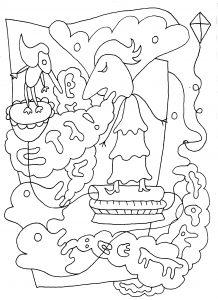 Snaaikrop - pen op papier - 14,8 x 21 - 2016