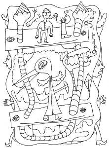 Snoephaan - pen op papier - 14,8 x 21 - 2016