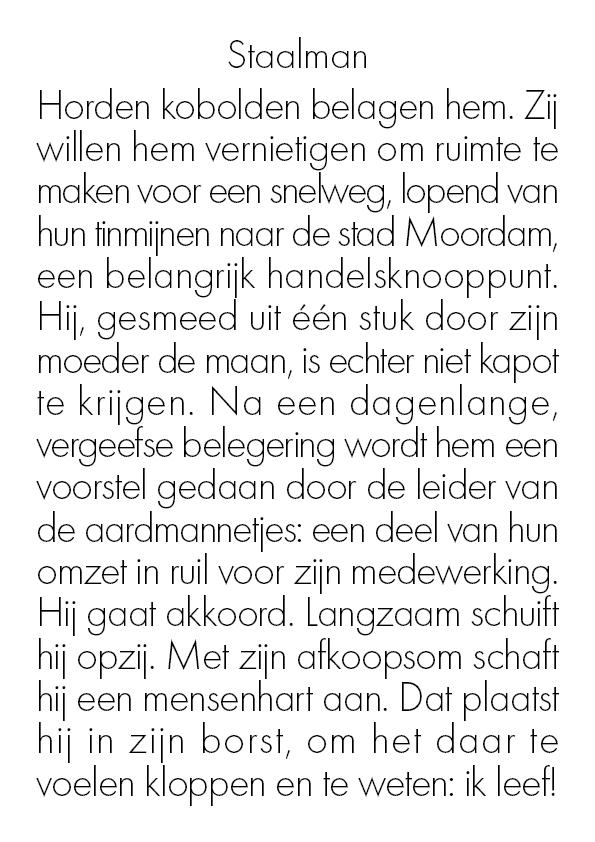 Staalman (alleen tekst)
