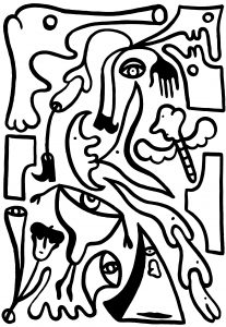 z.t. - 70 x 100 cm - Inkt op papier